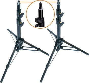 Pro Photo Studio 2 PCS 8.5' Air Cushioned Heavy Duty Light Stands WARRANTY
