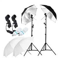 "NEW Studio Translucent 40"" Reflective Umbrella Continuous Video Lighting Kit"