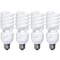 NEW 4 X 45W CFL 5500K 91 CRI Fluorescent Continuous Pure White Light Bulbs