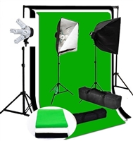 Photo Softbox 2000 W Video Continuous softbox lighting kit backdrop stand kit