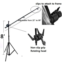 Heavy Duty Reflector Holder Holding Arm mounting bracket 8' Stand Kit