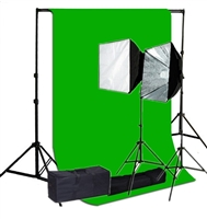 Pro Quick Setup Softbox Continuous Lighting 1000 watt heavy duty backdrop suppot 10ft x12ft backdrop kit