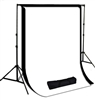 NEW Backdrop Stand High Key Muslin 10'x12' Black White Background Support Kit