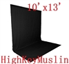 NEW HIGH KEY Black Muslin Background 10'x13' Backdrop