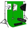 Photo Softbox 2000 W Video Continuous softbox lighting kit chroma key green set