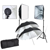 Pro 1600W PHOTO LIGHTING KIT STUDIO SOFTBOX REFLECTIVE UMBRELLA LIGHT SET