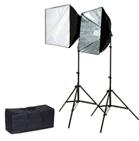 Pro Quick Setup Continuous Lighting Studio Softbox Fluorecent 2 x 135 watt Kit