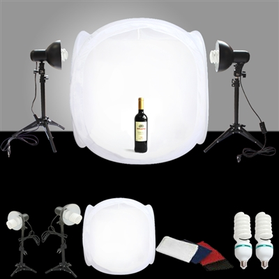 "Pro Studio Light Photo Kit Combo Studio in a box 24"" Tent Set"