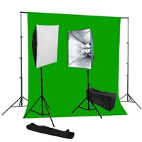Photo Softbox 1600 watt Video Continuous Lighting kit green backdrop stand kit