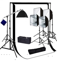 Photo Softbox 4000 W Video Continuous Lighting Kit  10'x12' muslin backdrop kit