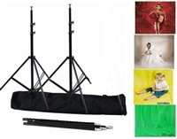 New backdrop stand support system & 4 pcs Fantasy cloth backdrops kit