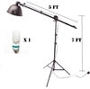 NEW cotinuous lighting kit reflector boom arm hair light background light kit