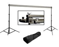 Pro Heavy Duty Triple Crossbar 10 ft Background Stand Backdrop Support System Warranty