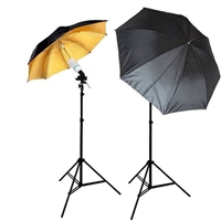 NEW Studio Gold/silver Umbrella Light Continuous Video Portrait Lighting Kit