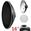"16"" Beauty Dish Honeycomb & White Diffuser for Bowens Calumet Travelite"