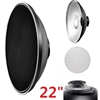 "22"" Beauty Dish Honeycomb & White Diffuser for Bowens Calumet Travelite"