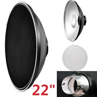 "Pro 22"" Interchangeable Beauty Dish Honeycomb & White Diffuser for Elinchrom"