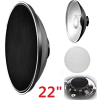 "Pro 22"" beauty dish with grids for Alien Bees"