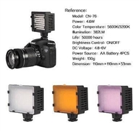 Pro LED76 LED Video Light bi color 3200K-5500K