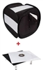 "Pro 16"" Black Studio Light Photo Jewellery Tent & Black/ White Riser Kit"