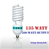 NEW 135W CFL 5500K Fluorescent Continuous Pure White Light Bulbs 4800 Lumins