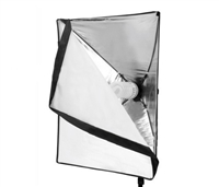 "20""x28"" rapid softbox with built in single socket and power cords"