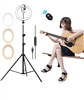 10 inch Ring Light with Tripod Stand - CanadianStudio LED Camera Selfie Light Ring with iPhone Tripod and Phone Holder for Video Photography Makeup Live Streaming, Compatible with iPhone and Android Phone