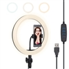 10 inch Ring Light with phone holder - CanadianStudio LED Camera Selfie Light Ring for Video Photography Makeup Live Streaming, Compatible with iPhone and Android Phone