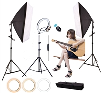 14 inch LED Ring Light with softbox lighting kit - CanadianStudio LED Camera Selfie Softbox Light Ring with iPhone Tripod and Phone Holder for Video Photography Makeup Live Streaming, Compatible with iPhone and Android Phone