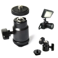 "CanadianStudio 1/4"" Mini Smart Ball Head 360 degree Bracket/Holder/Mount for Camera Tripod hot shoe Hotshoe"