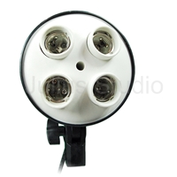 Photo Studio 4-socket light head with power cords