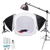 "1200 Watt Boom Stand STUDIO IN A BOX PHOTO LIGHT TENT PHOTOGRAPHY SET Continuous Light Kit, 24"" light tent with 4 pcs backdrops"