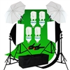 CanadianStudio Photography Studio 1400 watt Continuous Lighting Umbrella softbox Light Black/White/green High Key Muslin Backdrop Stand Kit