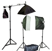 5 socket softbox lighting boom stand kit ( NO BULBS)