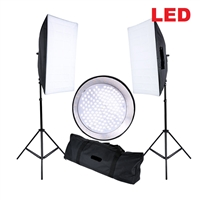 CanadianStudio Pro Continuous LED Lighting Kit 2 x 144PCS 5500K LED beads Softbox Studio Light Stand Kit