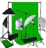 5 lights 4 socket softbox and umbrella lighting kit with 10ft x 12ft backdrop support kit