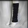 Black Metallic Legwarmers