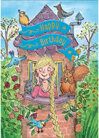 Cardooo Birthday Fairy Story Card Rapunzel