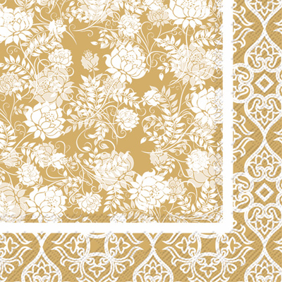 Classic Garden Gold Lunch Napkin