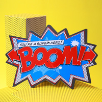 My Design Co. Comic Action Cracker Card Boom