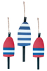 Nautical Weathered Buoy Set