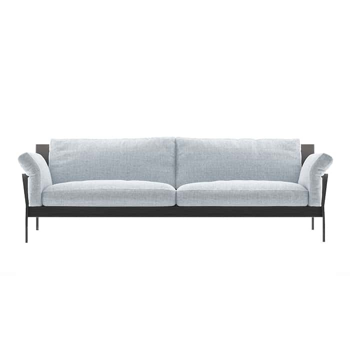 Black/Grey 6ft Couch