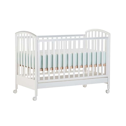 White Wood Crib