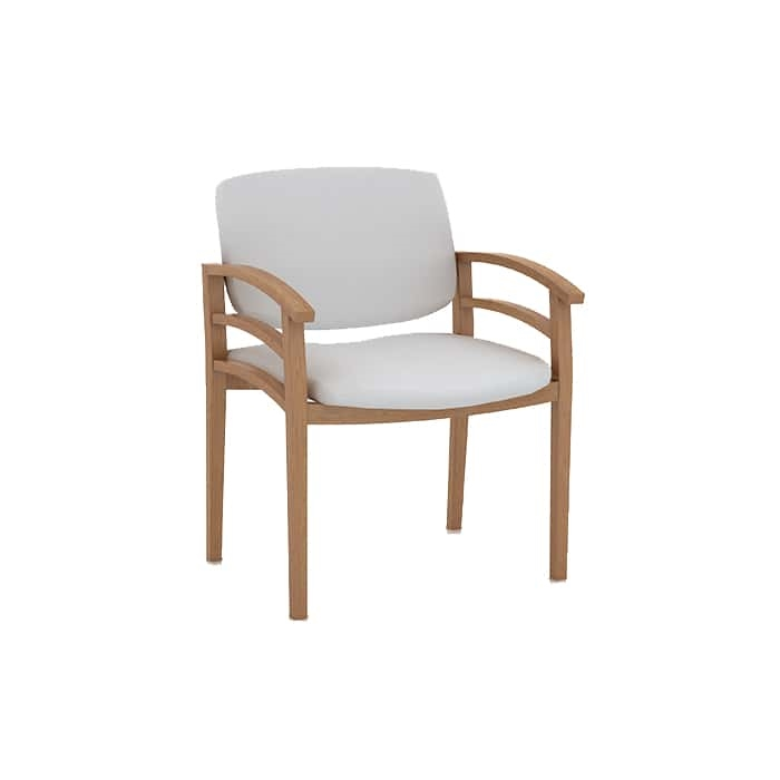 White/Tan Dining Chair