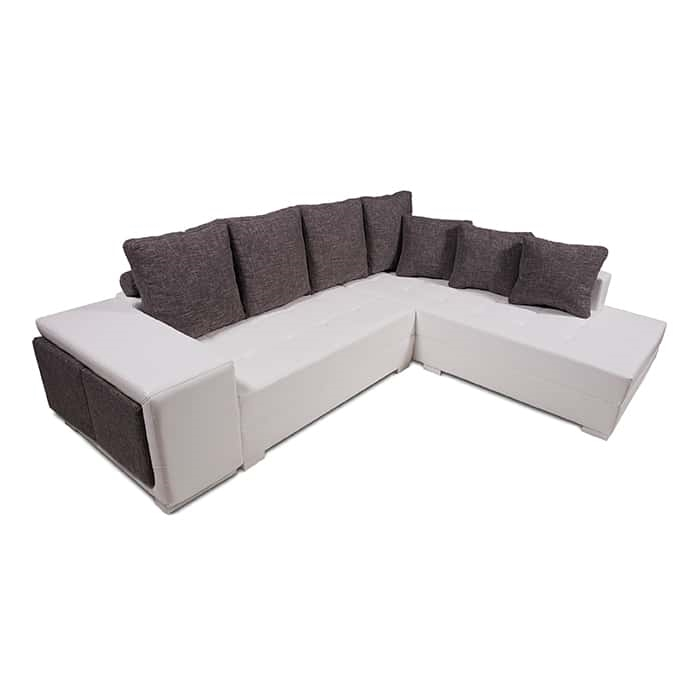 White/Dark Grey Sectional