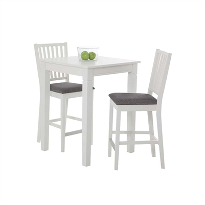 White/Dark Grey 2-Seat Table Set