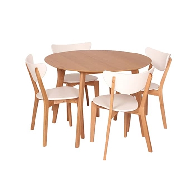 Wood/White Table Set