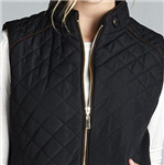 Black Plus Size Quilted Padded Vest