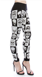 Rhinestone Skulls Full Length