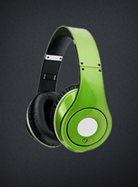 Green Headphones Combo